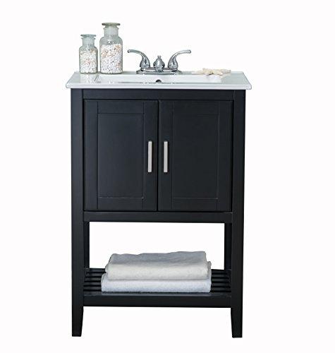 24 in.Bath Vanity in Espresso with Ceramic Top WLF6020-E Bath vanity, 24