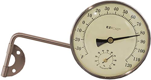 Headwind Consumer Products 840-0082 Metal Thermometer/Hygrometer, Oil Rubbed Bronze, 4