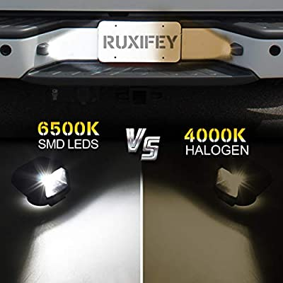 RUXIFEY LED License Plate Lights Rear Lamp Replacement Compatible with Frontier Titan Xterra Armada Suzuki Equator: Automotive