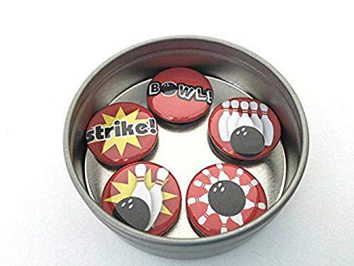 Bowling Magnet - Bowling Magnet Set - Classic Red and Black