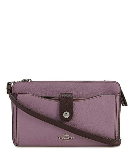 Coach Jasmine Multi Purple Leather Pop up Colorblock New
