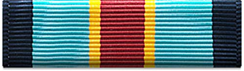 Slide-on Ribbon with Mounting bar: ARMY OVERSEAS SERVICE RIBBON