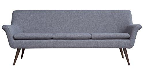 Kardiel Murphy Midcentury Modern 3-Seat Sofa, Kensington Tailored Twill