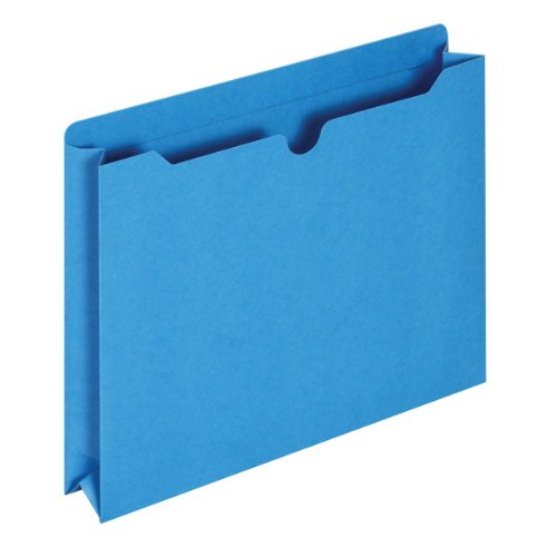 Globe-Weis/Pendaflex File Jackets, 2-Inch Expansion, Letter Size, Blue, 50 Jackets per Pack (B3043DTBLU)
