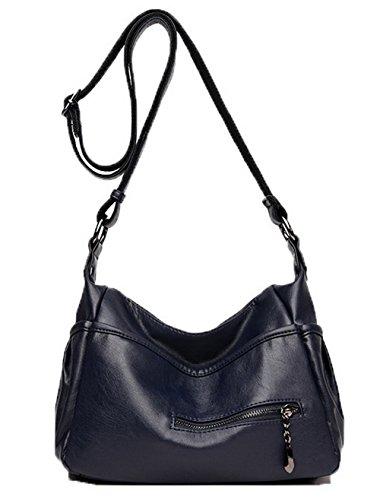 Sacs Achats GMBBB180913 Cuir sacs bandoulière à Pu Des Femme Zippers Foncé AgooLar Bleu g0RwqSxvn5
