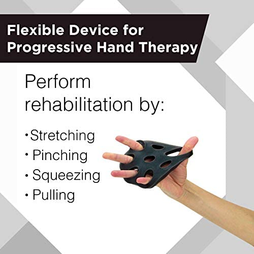 TheraBand Hand Xtrainer, Non-Latex Hand Exerciser for Progressive Hand Therapy, Strengthen Fingers, Hands and Forearms, Grip Trainer, Strengthener, Helps Relieve Joint Pain