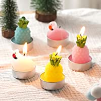 6 Pcs in Pack Sunker Rose Tealight Candles Smokeless Handmade Delicate Candles Kit Perfect for Wedding Festival Birthday Party Spa Home Decor Gifts