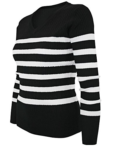 cielo-womens-open-twist-knit-stretch-pullover-small-black-ivory