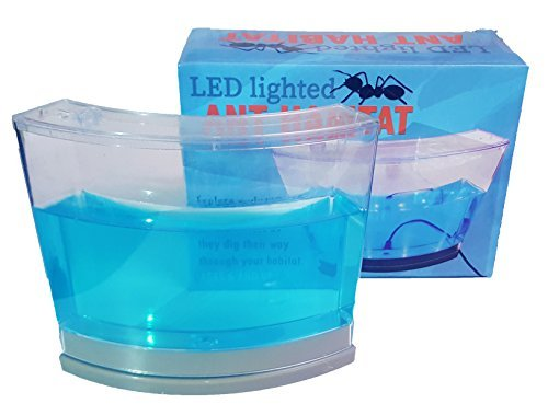 ANT HABITAT ENCLOSED ECOSYSTEM WITH LED LIGHT