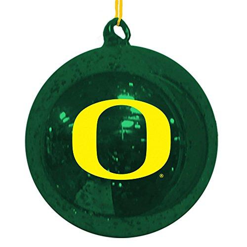 Team Sports America Oregon Ducks Mercury Glass Ball Ornament ()