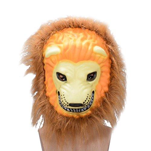 Amosfun Lion Mask Halloween Cosplay Costumes Mask Creepy Terrifying Toothy Burrs Mask for $<!--$5.39-->