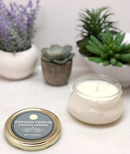 English Garden Scented Soy Candle - Handmade by Heirloom Candles, ()