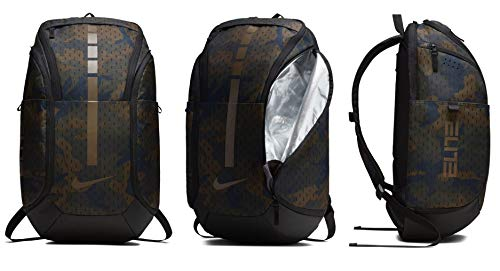 (Nike Hoops Elite Hoops Pro Basketball Camo Backpack Cargo Khaki/Black/Yukon Brown)