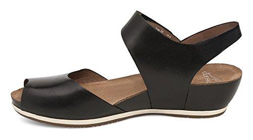 Dansko Women's Vera Flat Sandal, Black Burnished, 38 M EU (7.5-8 US) by Dansko (Image #5)