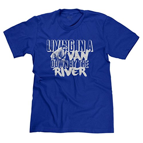 FreshRags Living in a Van Down by The River SNL Men's T-Shirt Royal ()