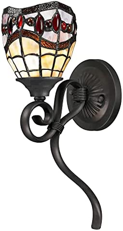 Dale Tiffany TW12424 Tiffany/Mica One Light Wall Sconce from Fall River Collection