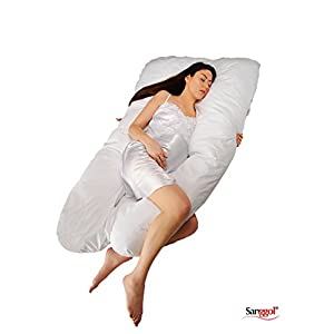 Sanggol Pregnancy Pillow/Maternity Pillow U shaped, Full Body Pillow, Nursing Pillow, Wedge Pillow with 100% Cotton Pillowcase