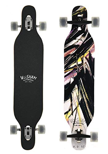 WiiSHAM 42 Inchs Professional Speed Downhill Drop Down Complete Longboard Skateboard