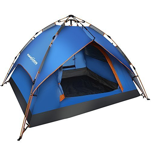 Kansoon Automatic Instant Dome Tent, 2-3 Person Camping Cabin with Rain Flyer, Waterproof, UV protection, Double Layer