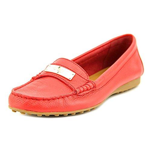 Coach Women¡¯s Fredrica Pebble True Red Grain Leather Flats 6 B(M) US Women