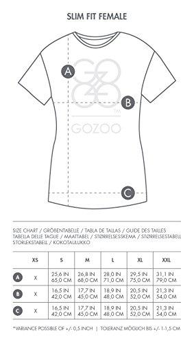 GOZOO Alice in Wonderland T-Shirt Donna Pop-Art Alice 100% Cotone, Stampa di Alta Qualitá Oil Dye