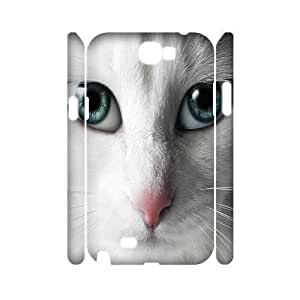 ALICASE Hard case Cat 3D Diy For Samsung Galaxy Note 2 N7100 [Pattern-1]