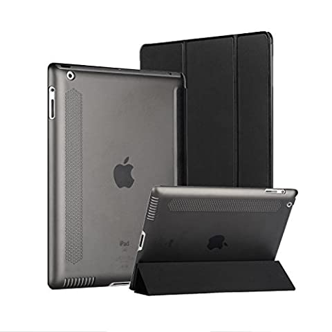 Ipad Case, Afranker iPad 2 / 3 / 4 Smart Stand Case with Auto Sleep / Wake Function and Translucent Back with Afranker Cleaning Cloth (Acoustic Guitar Phitz)