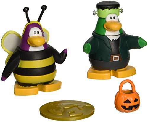 Club Penguin 2' Mix - Disney's Club Penguin: 2'' Mix 'N Match Figure Pack - Bumble Bee and Frankenpenguin by Disney
