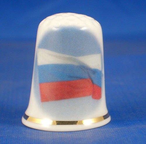 Russland Porzellan Sammlerst/ück Fingerhut Flagge