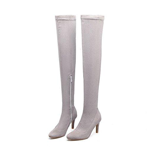 BalaMasa Abl09781 Sandales Compensées Femme Gris, 37.5 EU, ABL09781
