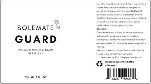 Solemate Guard - Premium Water & Stain Repellent - Waterproof and Protect Suede, Leather, Nubuck, Fabric, Nylon, Polyester & More - Sneakerhead Protector for All Sneakers, Shoes, Boots, Accessories by Solemate (Image #1)