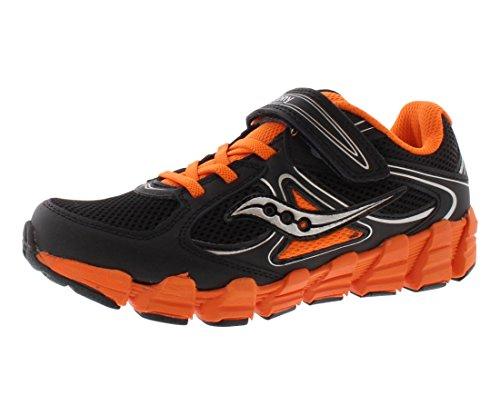 Saucony Kotaro AC Boy's Athletic Shoes Size US 12, Extra Wide, Color Black/Orange/Silver