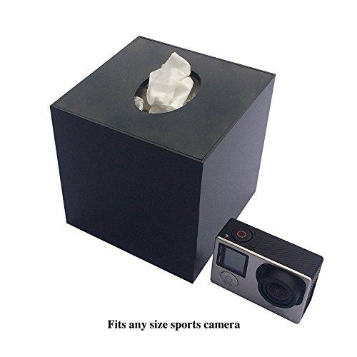 Online-Enterprises, Gopro Hidden Camera Case (Go pro not included), Tissue box on top spy camera underneath, secret compartment inside (TB1.1 Black)