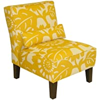 Skyline Furniture Armless Chair in Gerber, Sungold