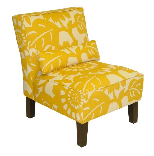 Skyline Furniture Armless Chair In Gerber, Sungold At A Glance