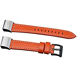 Fitbit charge 2 Watch Band, Forthery PU Leather Replacement Strap Wrist Band Watchband (Orange)