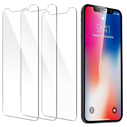Price comparison product image iPhone X Screen Protector,  [3-Pack] ESR [Force Resistant Up to 22 Pounds] iPhone X Tempered Glass,  Case Friendly for iPhone X iPhone 10 5.8-inch 2017 released version