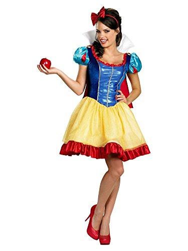 Sassy Snow White Costumes (Disney Princess Womens Sassy Snow White Costume with Dress & Headband M (8-10))