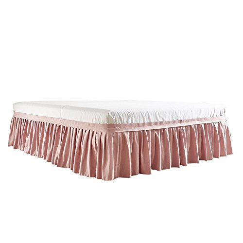 myonly Bed Cover Bedspread Bed Sheets with Skirts Bed Skirt Dust Ruffle Princess Striped Printing Thickened Bed Skirt Bedspread Protective Cover Queen King Size Bed Skirt (Without ()