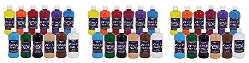Sargent Art 24-2498 Count Artist Quality Acrylic Paint Set (3 X Pack of 12)