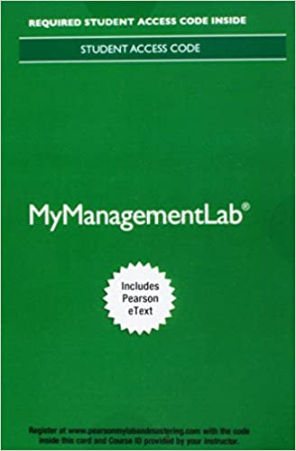 Mylab Management With Pearson Etext Access Card For