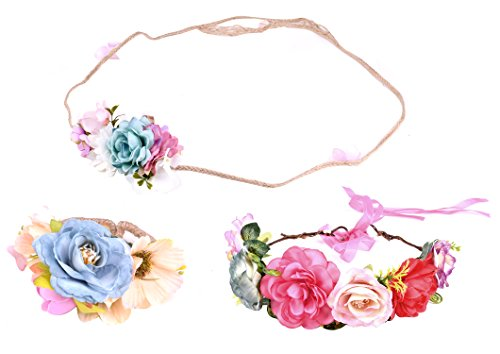 Wrist Corsage Flower Elastic Band Wedding Prom Party - 9