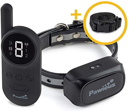 Dog Training Collar with Remote [Newest] - Rechargeable Dog Shock Collar for Small Medium and Large Dogs | Long Range up to 1600ft, Waterproof, Shock/Vibration Control, LED Screen, E-Collar Training