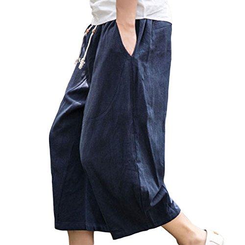 YOUTHUP - Pantalón - Capri - para mujer azul marino