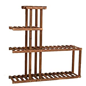 Amazon.com: G-HJLXYZWJHOME Wooden Plant Stand Flower Stand