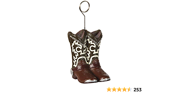 Amazon Com Cowboy Boots Photo Balloon Holder Party Accessory 1 Count Kitchen Dining
