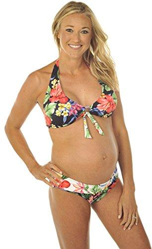 Prego Maternity Women's Hawaiian Roll Waist Bikini - XS