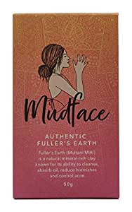 Mudface Authentic Fuller's Earth - 100% NATURAL Clay Mask, Vegan, CRUELTY FREE - OWNED, DESIGNED and Hand Packed in AUSTRALIA - Perfect for TEENS & ADULTS