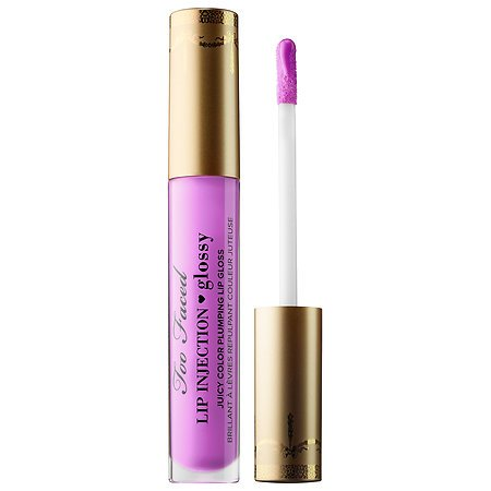 Too Faced Lip Injection Glossy Juicy Color Plumping Lip Gloss in Like A Boss (Orchid) 0.14 FL OZ