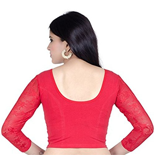 b1276163c86d6 Fressia Fabrics Saree Blouse Readymade for Women Free Size(Pack of  3) 107pack of 3